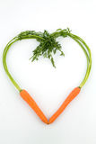 Fresh carrots in a heart shape Stock Photography