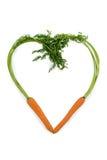 Fresh carrots in a heart shape Stock Image
