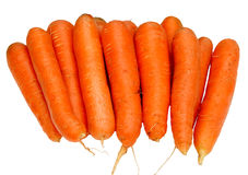 Fresh carrots isolated. On white background Stock Photos