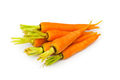 Fresh carrots isolated Stock Photography