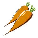 Fresh carrots isolated Royalty Free Stock Photography