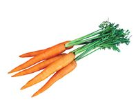 Fresh carrots isolated on white Royalty Free Stock Photography