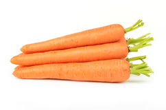 Fresh carrots isolated on white background Royalty Free Stock Photography