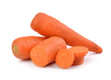 Fresh carrots isolated on white background Royalty Free Stock Images