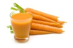 Fresh carrots juice Stock Photography