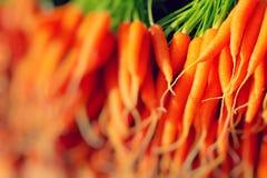 Fresh Carrots At The Local Market Royalty Free Stock Photos