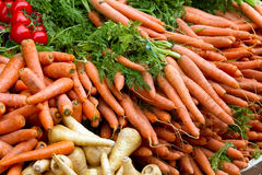 Fresh carrots from the market Stock Photos