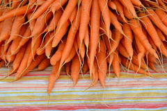 Fresh carrots at market Royalty Free Stock Photos