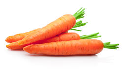 Free Fresh Carrots On White Background Stock Photography - 74102172