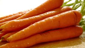 Fresh carrots stock video