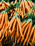 Fresh Carrots For Sale In Vegetable Market Royalty Free Stock Images