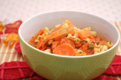 Fresh carrots stew Royalty Free Stock Photos