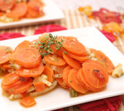 Fresh carrots stew Royalty Free Stock Photo