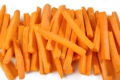 Fresh carrots sticks background Royalty Free Stock Photos