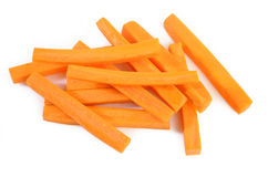 Fresh carrots sticks Royalty Free Stock Images