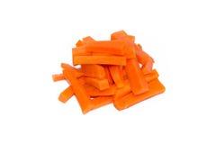 Fresh carrots vegetable sticks isolated on white Stock Image