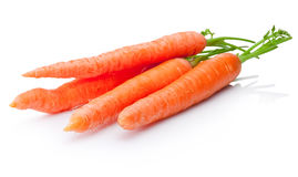 Fresh carrots vegetable on white background stock photo