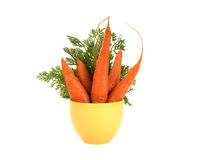 Fresh carrots on white Royalty Free Stock Photo