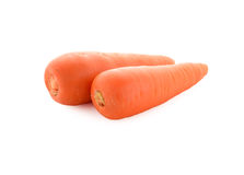 Fresh carrots on white Stock Photography