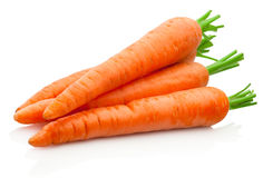 Fresh carrots on white background stock photography