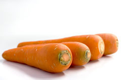 Fresh carrots  on white background. Closeup of carrot Stock Photography