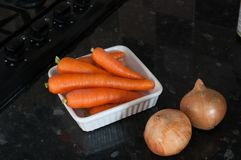 Carrots and onions Royalty Free Stock Photo