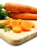 Fresh carrots whole & sliced Stock Photos