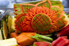 Fresh carved fruit Royalty Free Stock Photography