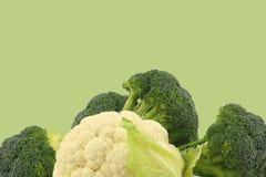 Fresh cauliflower and broccoli Stock Photos