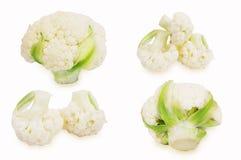 Fresh cauliflower cabbage isolated on white background stock photography