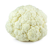 Fresh cauliflower cabbage vegetable on white background Royalty Free Stock Photo