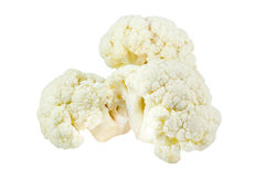 Fresh cauliflower cabbage vegetable on white background Stock Photos