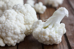 Fresh cauliflower florets Stock Images