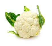 Fresh cauliflower isolated on a white background Stock Images
