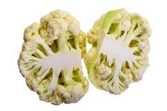 Fresh cauliflower isolated white background Royalty Free Stock Photo