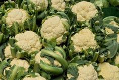 Fresh cauliflower in market in Birmingham city center Stock Photo