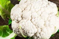 Fresh cauliflower. Fresh vegetable cauliflower. Close up Stock Images