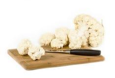 Fresh cauliflower on white. Background Stock Photography