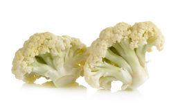 Fresh cauliflower on white background Royalty Free Stock Photography