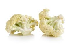 Fresh cauliflower on white background. Fresh cauliflower on a white background Royalty Free Stock Photos