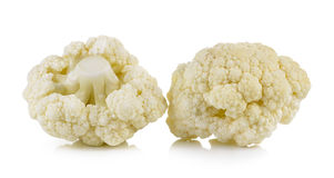 Fresh cauliflower on white background. Fresh cauliflower on a white background Stock Images