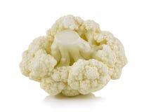 Fresh cauliflower on white background Royalty Free Stock Image