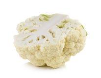 Fresh cauliflower on white background Stock Photography