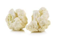 Fresh cauliflower on white background. Fresh cauliflower on a white background Royalty Free Stock Photo