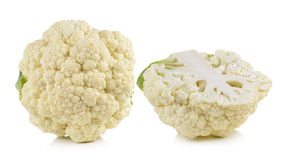 Fresh cauliflower on white background. Fresh cauliflower on a white background Royalty Free Stock Photography