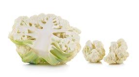 Fresh cauliflower on white background. Fresh cauliflower on a white background Stock Photography