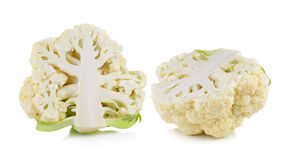 Fresh cauliflower on white background. Fresh cauliflower on a white background Stock Image