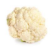 Fresh cauliflower on white background.  Stock Images