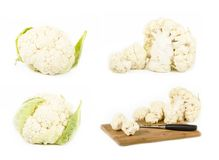 Fresh cauliflower on white background. See my other works in portfolio Royalty Free Stock Images