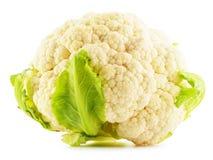 Fresh cauliflower on white. Raw vegetable Stock Images